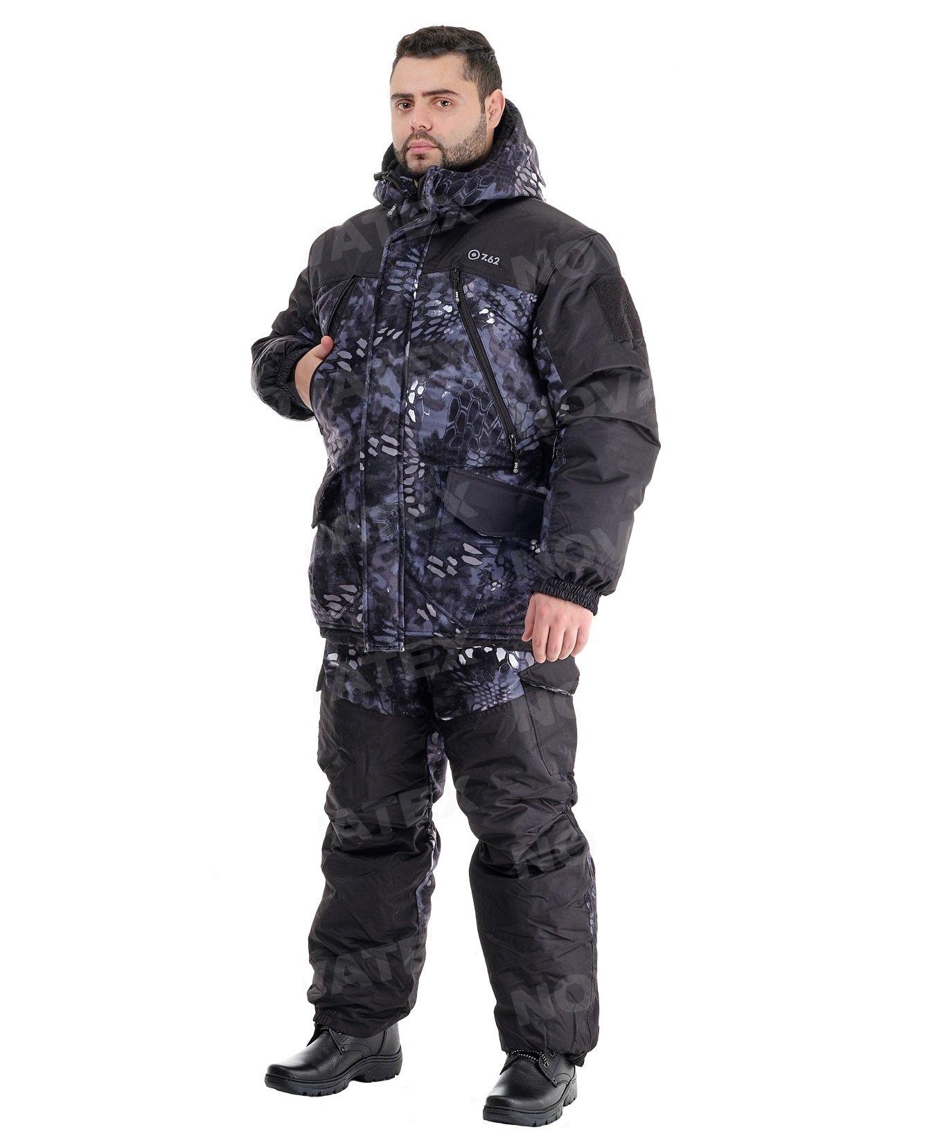 Зимний костюм для охоты и рыбалки «Горка Зима» -45° (Алова, Черный питон) 7,62
