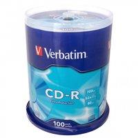 Диск VERBATIM CD-R 80 52x DL CB/100