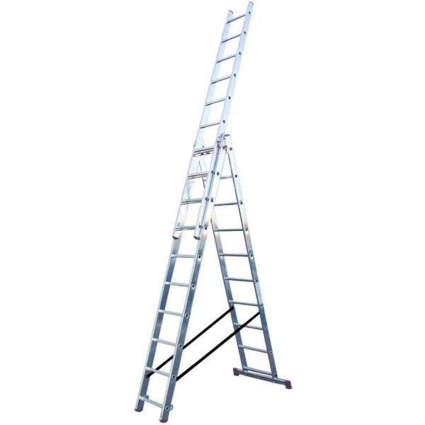 Лестница-стремянка трехсекционная KRAUSE Corda 3x10 ступеней (010407)