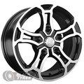 Диск колесный LS Wheels 216 6.5x15/5x139.7 D98.5 ET40 BKF - фото 1