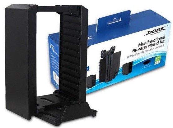 Cтенд (подставка) DOBE для PS4 Slim/Pro и 12 дисков