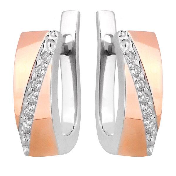 Серебряные серьги с фианитом UKE284