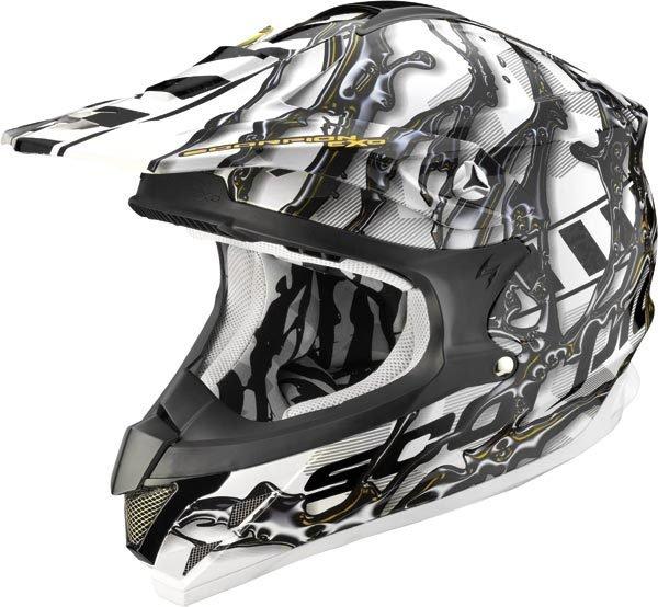 Scorpion VX-15 Air Oil шлем кроссовый, черно-белый / XL