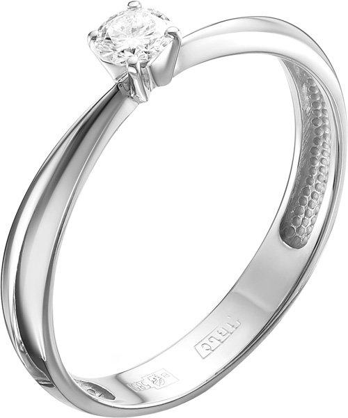 Помолвочное кольцо из белого золота Vesna jewelry 1059-251-00-00 с бриллиантом, размер 17 мм