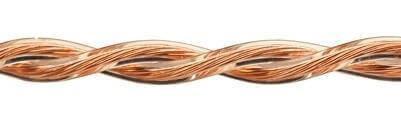 Ретро кабель (50м) 2*0.75 прозрачный, ПУП Подольсккабель