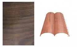 Сайдинг наружный металлический МеталлПрофиль Woodstock Дуб мореный матовый 6м