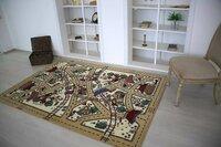 Люберецкие ковры Детский ковер Веселые дорожки бежевый 1.6x2.3 м.