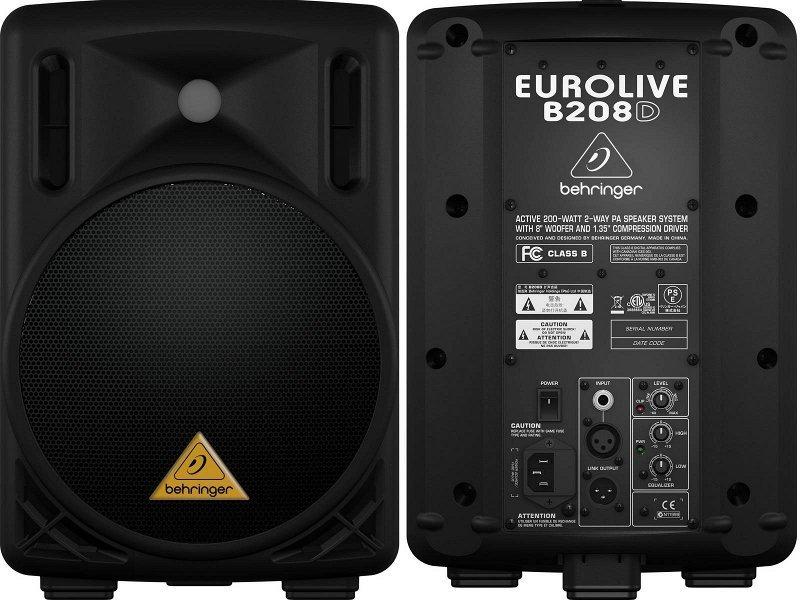 BEHRINGER B208D активная 2-х полосная (8` + 1,35`) акустическая система 200 Вт (175 Вт RMS), SPL max 113 дБ