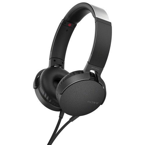 Наушники накладные классические Sony MDR-XB550AP/B black