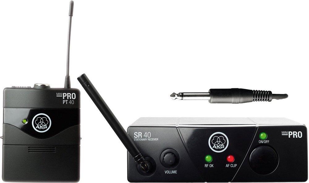 AKG WMS40 Mini Instrumental Set BD US25C инструментальная радиосистема с приёмником AKG SR40 Mini и портативным передатчиком AKG PT40 Mini, в комплекте гитарный шнур AKG MKG L