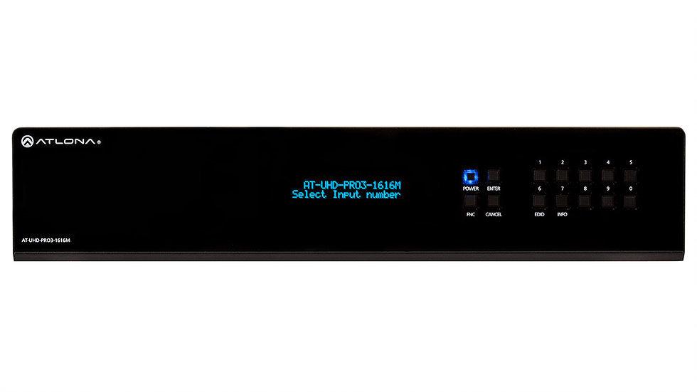 Atlona AT-UHD-PRO3-1616M 4K/UHD 16 на16 HDMI на HDBaseT Матричный Коммутатор с PoE.