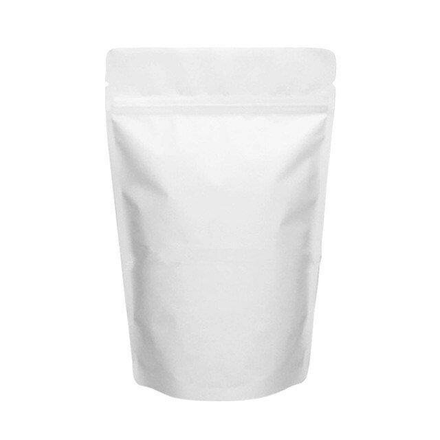 Пакет дой-пак металлизированный белый матовый 160*250 мм. В упаковке 100 шт.
