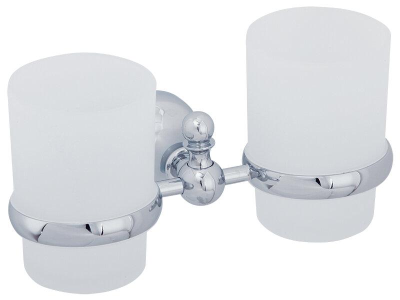 Стакан для ванны VERAGIO GIALETTA VR.GIL-6442.CR Стакан двойной настенный, хром/стекло