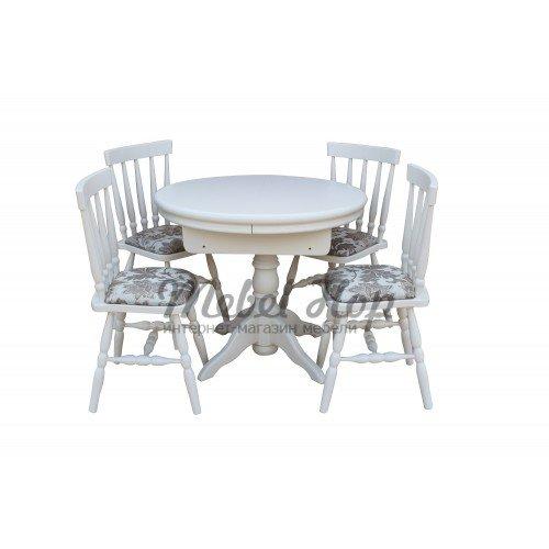 Круглый стол со стульями комплект