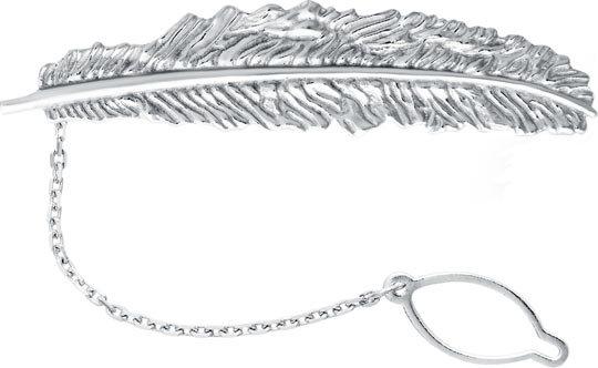 Серебряный зажим для галстука Воронин Голд SZ1061