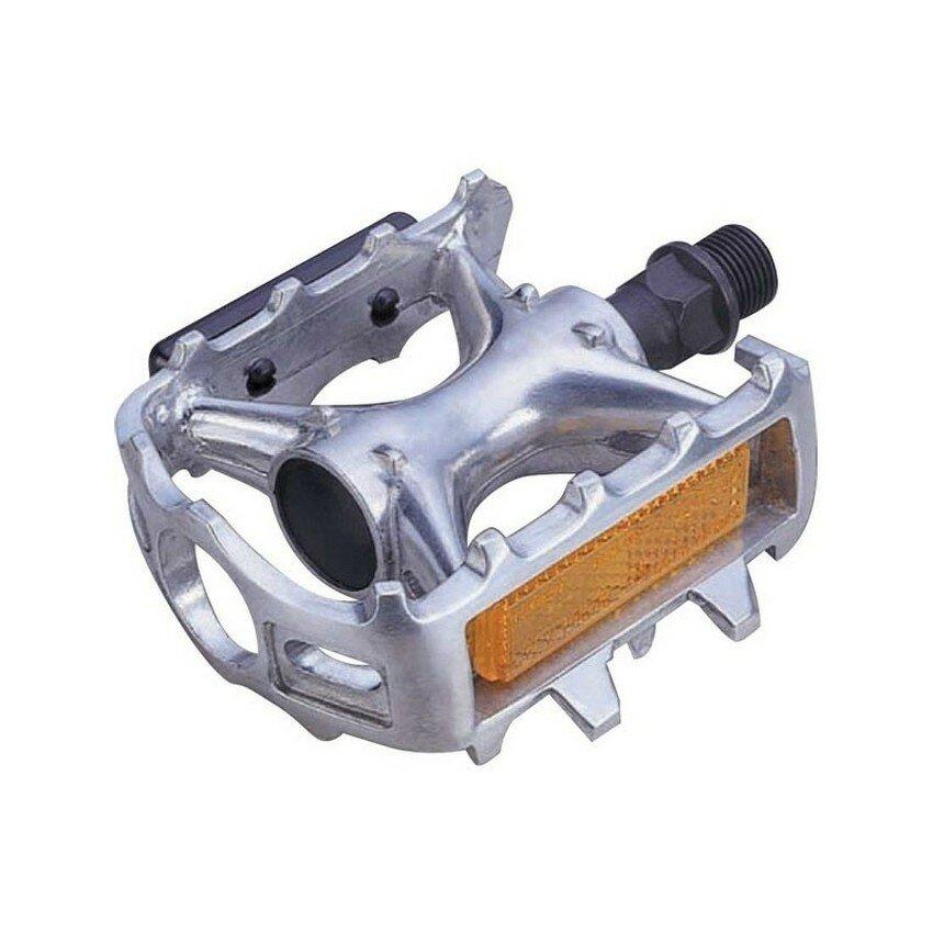 Педали алюминиевые Horst МТВ 100x65x30mm, silver