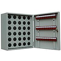 Ключница-пенальница для 30 (тридцати) пеналов и ключей металлическая с замком КЛ-30П.