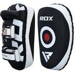 Пады для тайского бокса RDX T3 Orbit Thai Pads кожаные красные