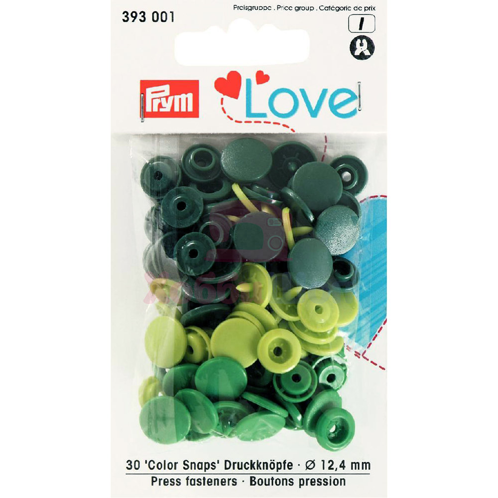 Кнопки Color Snaps пластик 30 шт разноцветные Prym Love 393001