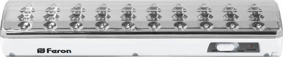 Светодиодный аккумуляторный светильник Feron, 40 светодиодов DC EL21