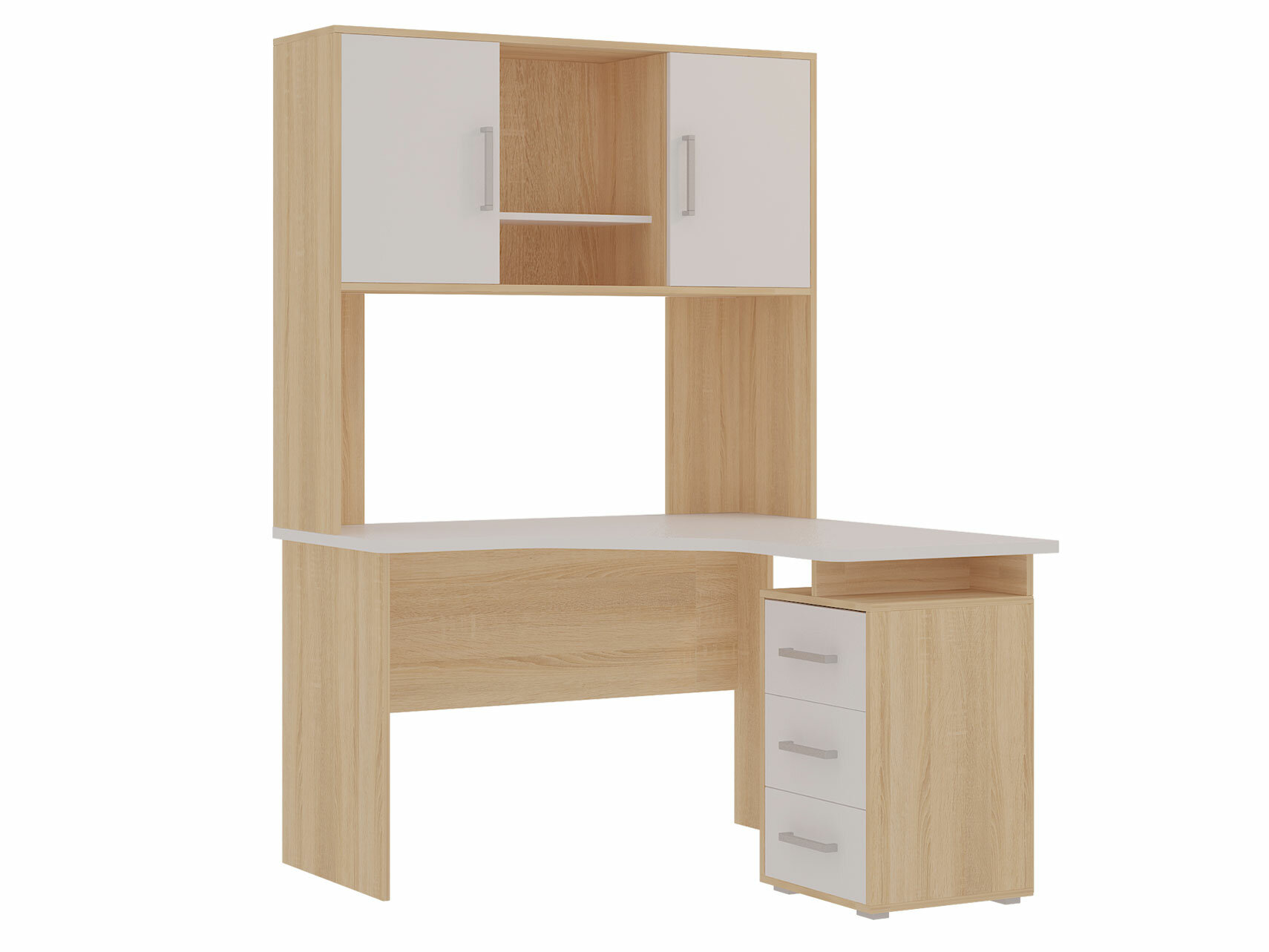 Компьютерный стол Мебельсон SKL2.2N02 + NKL02S1.2 Белый