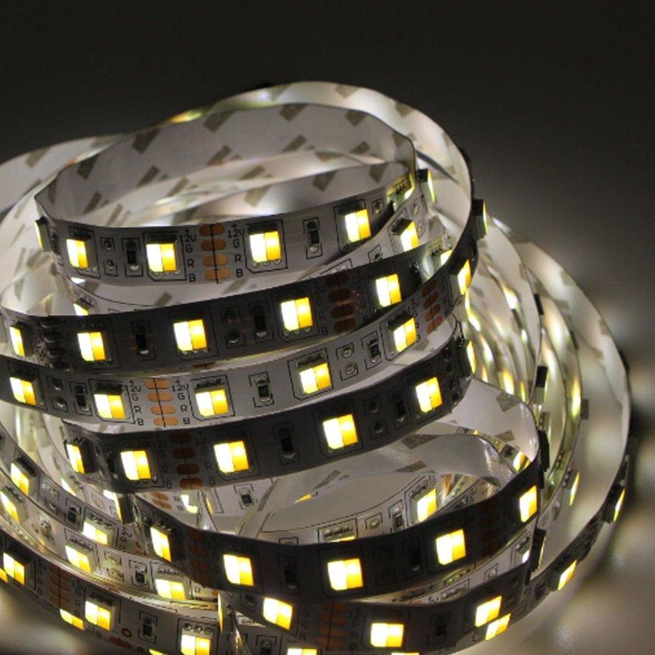 """Светодиодная лента SmartLight """"Двухцветная"""" 12V IP20 SMD5050 14.4 Вт/м, 720 лм/м, 60 диодов на 1 метр, ширина 10 мм, цвет белый+теплый белый. Минимальный заказ от 5 м.п., BV69917"""
