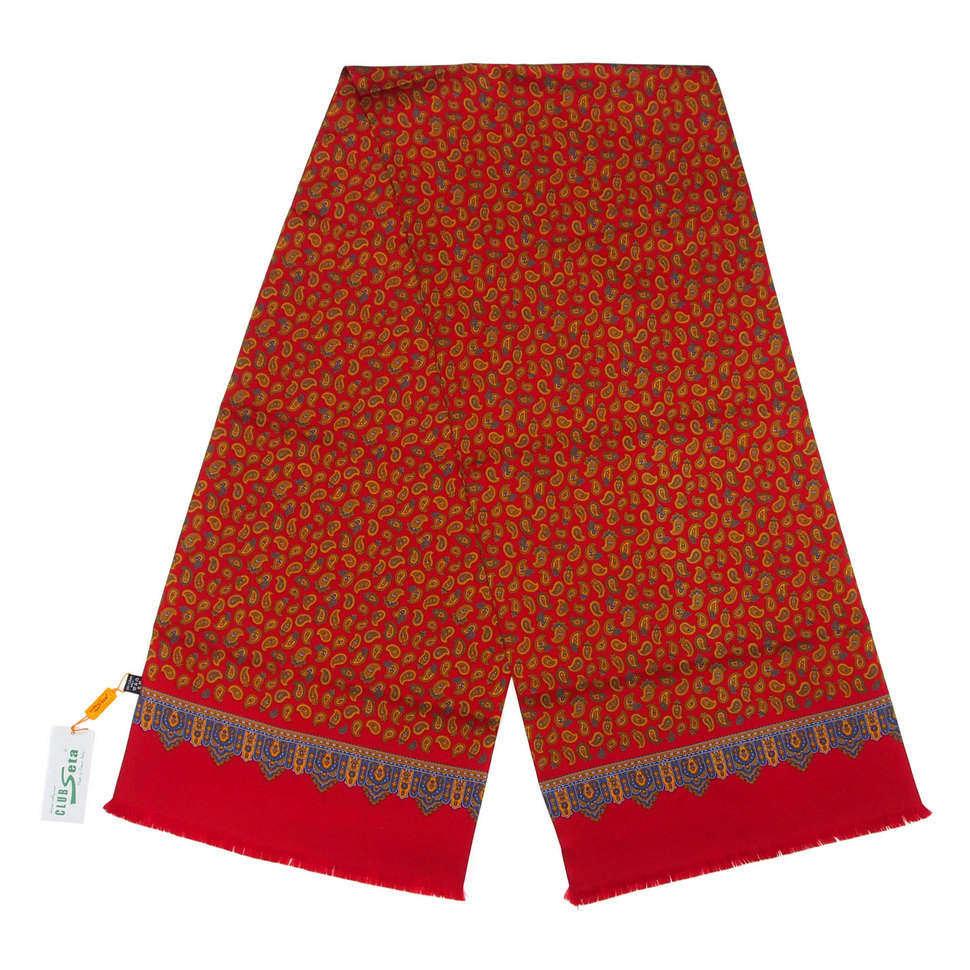 Яркий мужской шарф-кашне с узорами пейсли ClubSeta 828112