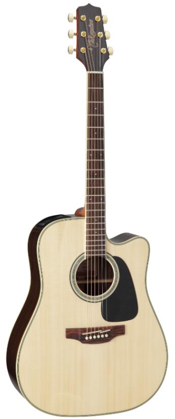 TAKAMINE G50 SERIES GD51CE-NAT электроакустическая гитара типа DREADNOUGHT CUTAWAY, цвет натуральный, верхняя дека - массив ели, нижняя дека и обечайка - махогани, накладка грифа - палисандр, предусилитель Takamine TP-4TD со встроенным тюнером