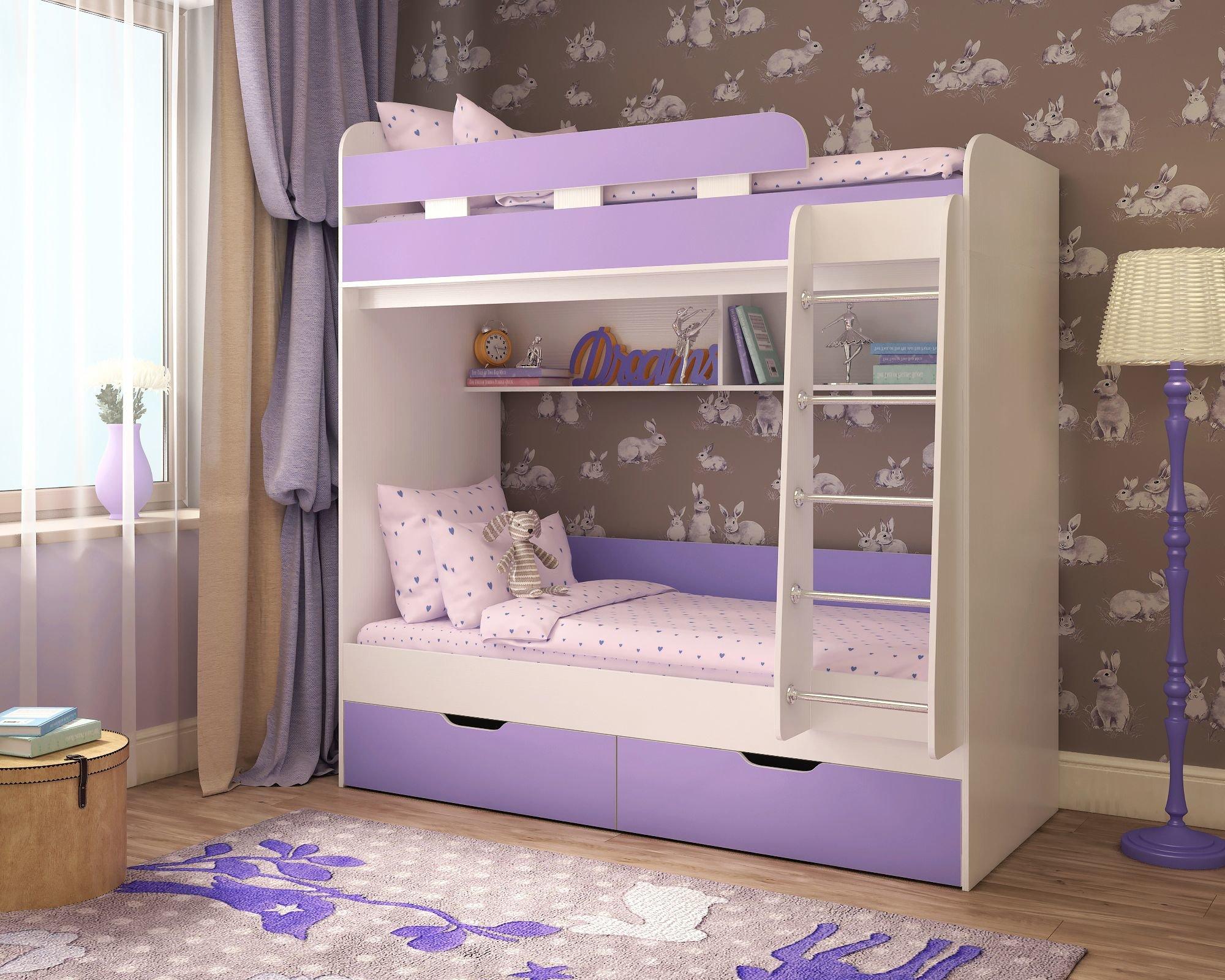 Детская мебель фабрики Ярофф Ярофф Двухъярусная кровать Юниор 5 - Венге Венге