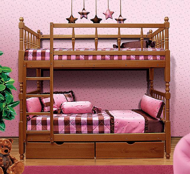 Детская двухъярусная кровать Мечта Орех