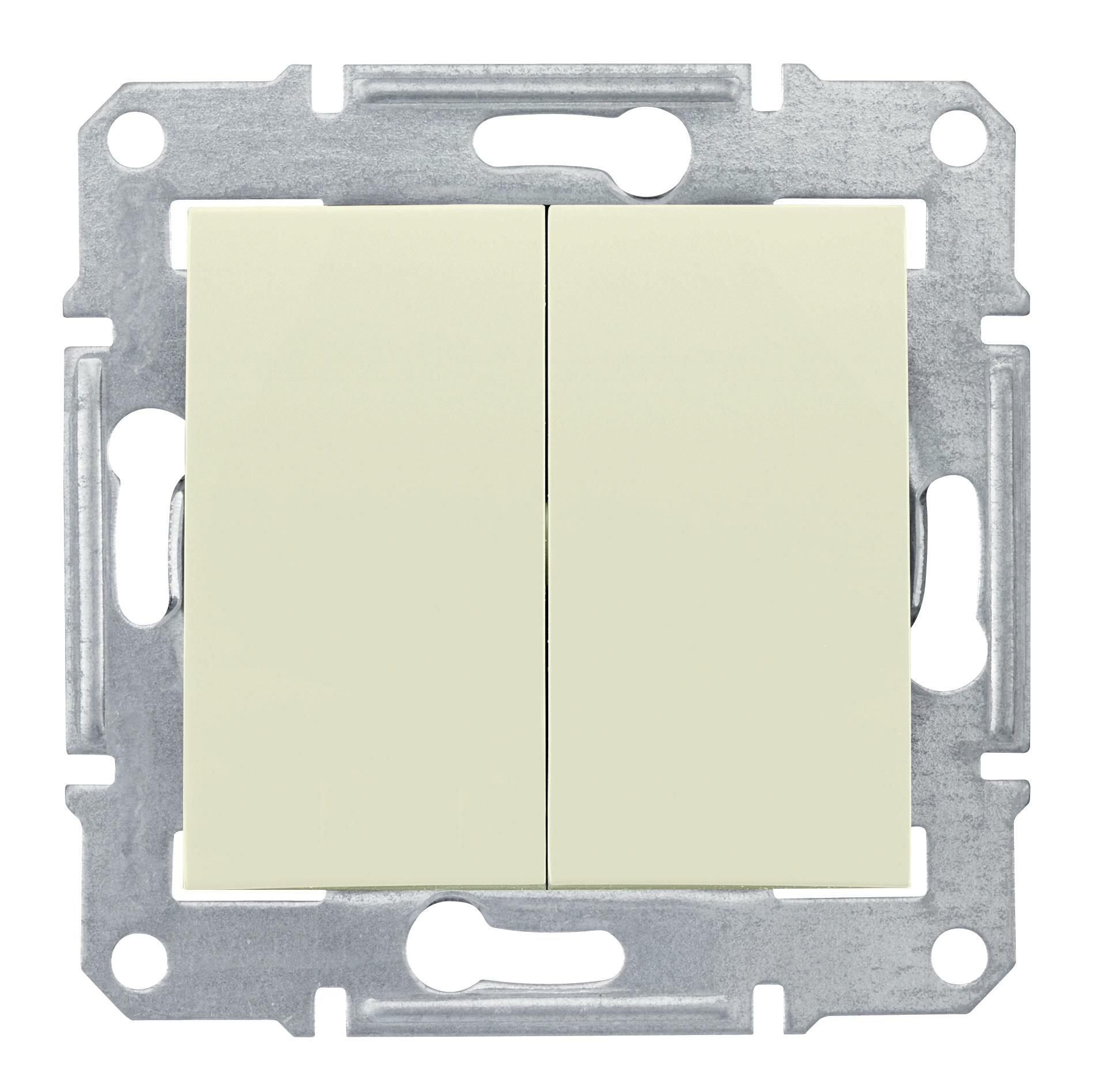 Schneider Electric SDN0600147 Sedna Беж Переключатель 2-клавишный 10А (сх.6+6)