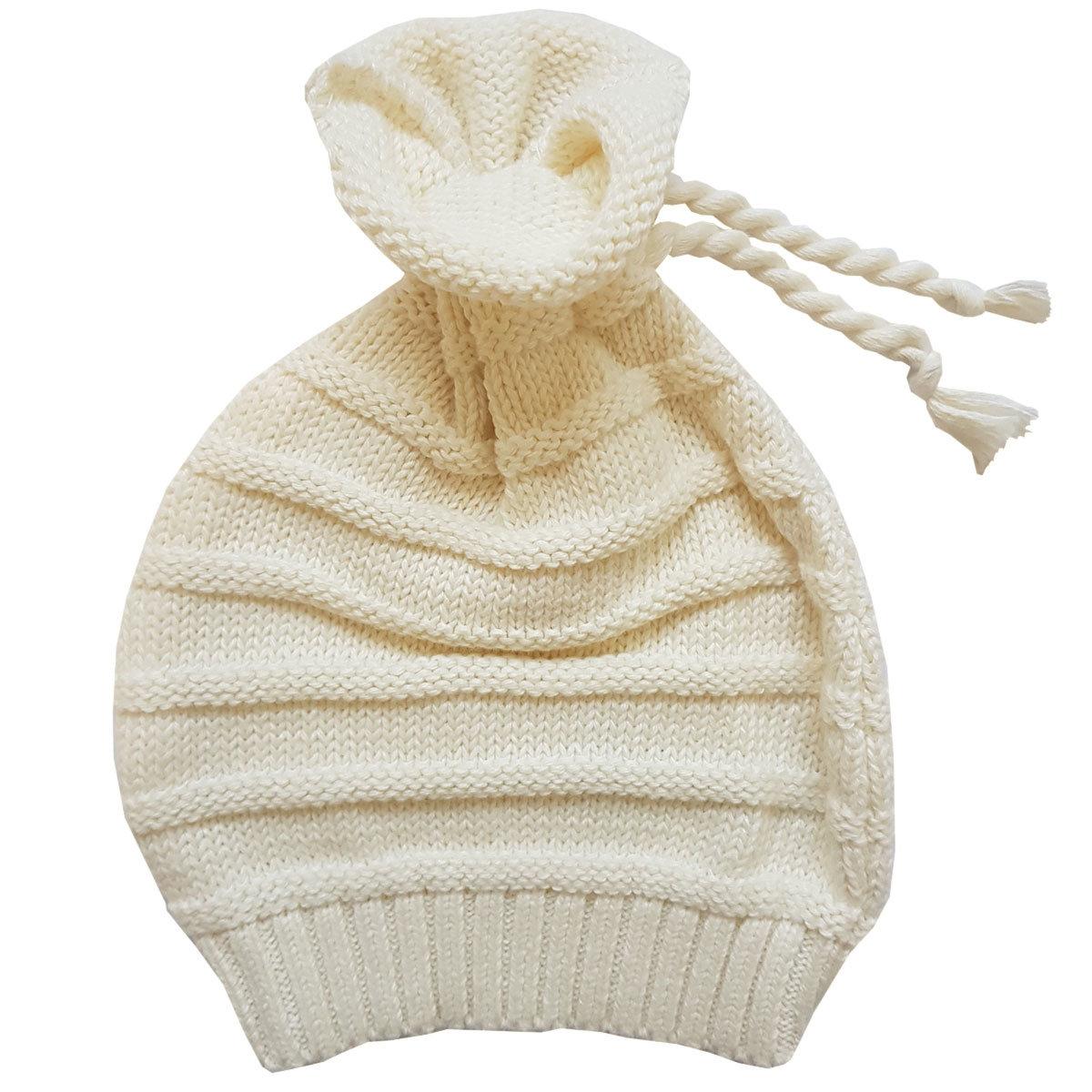 Шапочка для девочки Папитто вязаная (цвет: бежевый, размер 36-40)