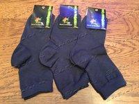 Носки женские из бамбука темно-синие 5 пар, размер 34-37 (23)