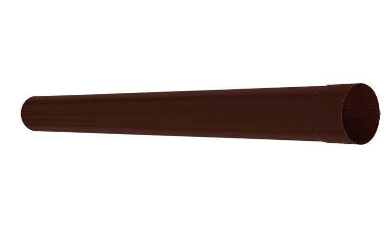 Водосток Aquasistem, Система 90х125 - Труба водосточная 1 м матовый Pural matt RAL 8017 (Коричневый)