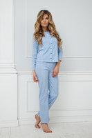 Нежно-голубая женская хлопковая пижама