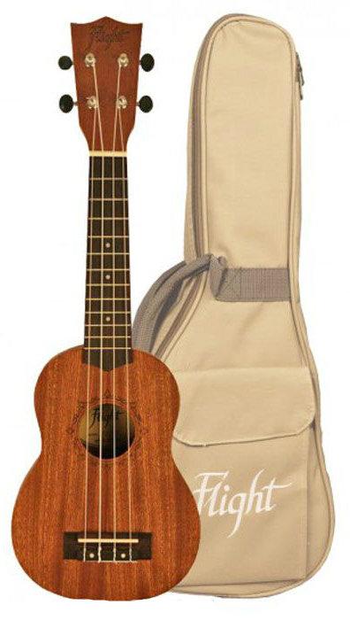 FLIGHT NUS 310 - укулеле, сопрано, корпус - сапеле, чехол в комплекте