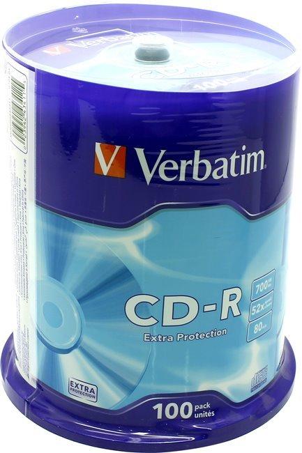 Диск CD-R Verbatim 43411/43430