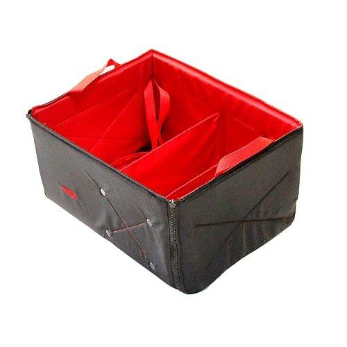 Ящик-органайзер складной в багажник автомобиля Тренд Фолдин 24 л черно-красный