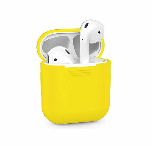 Силиконовый чехол для Apple Airpods, желтый