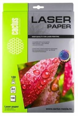 Фотобумага Cactus CS-LPA4100100 A4, 100г/м2, 100л., белый глянцевое для лазерной печати