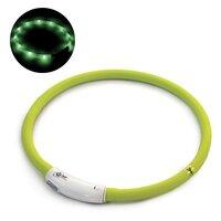 Светящийся ошейник, USB-зарядка, салатовый, Triol 11271021/22