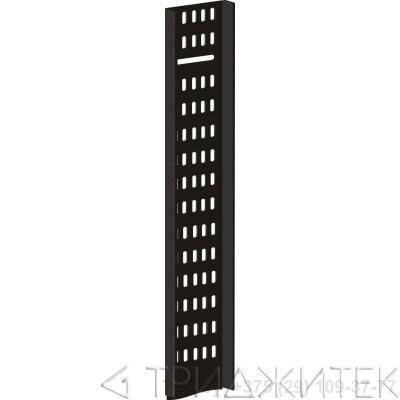 Вертикальный кабельный лоток для шкафов 47U, шириной 100 мм, черный