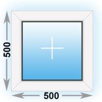 Готовое пластиковое окно Novotex глухое 500x500 (ШxВ)