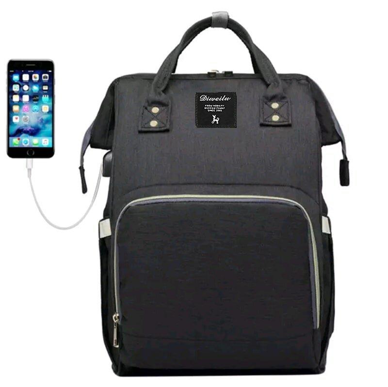 Рюкзак для мамы Diweilu с USB черный