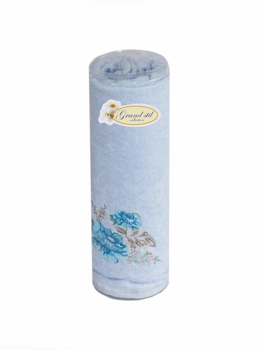 Полотенце для лица, рук или ног Grand Stil Виола , размер 48*90, GS-H49t, голубой