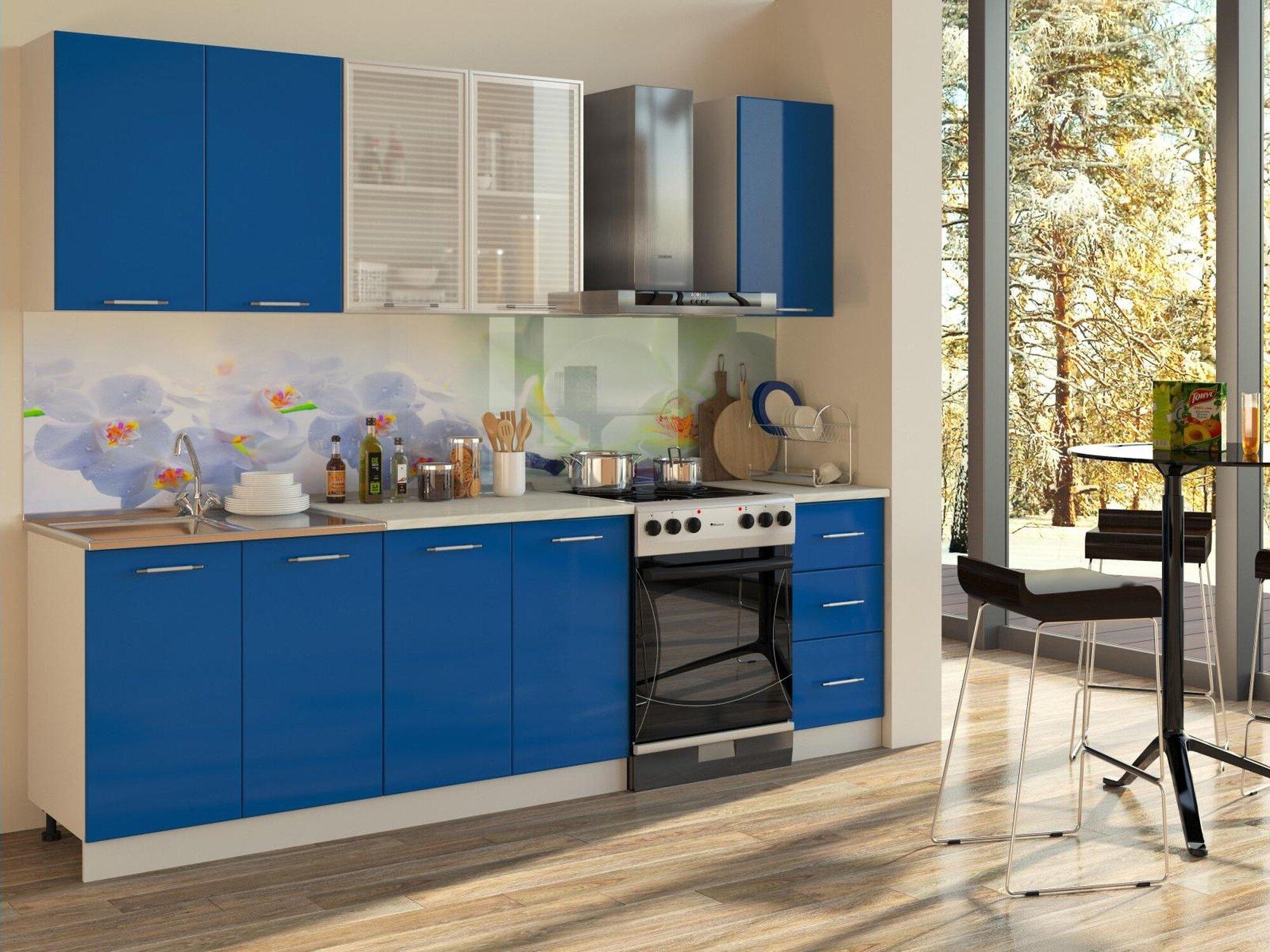 Кухня Синяя 2000