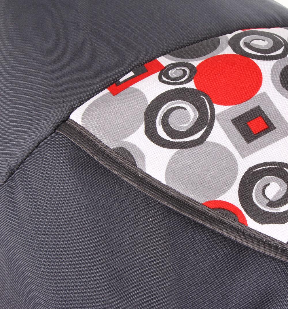 Коляска-трансформер Marimex Jas, цвет: серый/красный