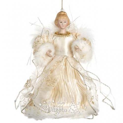Goodwill Елочная игрушка Ангел Нежности 18 см в кремовом наряде, подвеска MC 70805