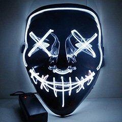 Неоновая маска Судная Ночь (белая)