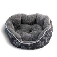 Лежак овальный Triol Сказочный лес для собак и кошек (57 х 52 х 24 см, Серый)